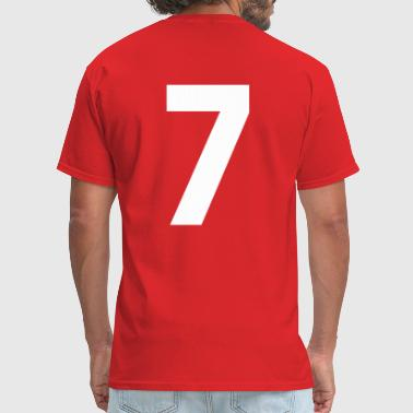 Team letter seven 7 - Men's T-Shirt