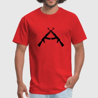 crossed ak47s - Men's T-Shirt