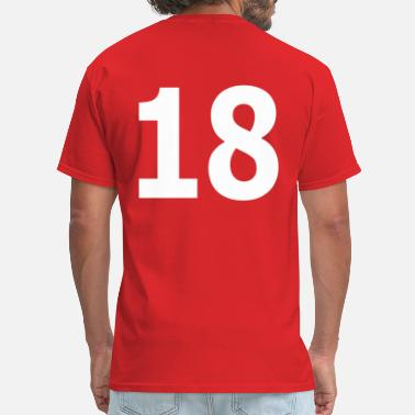 Number 18 Team letter eighteen 18 - Men's T-Shirt