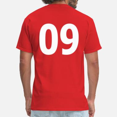 09 Team letter nine 09 - Men's T-Shirt