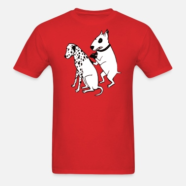 DALMATIAN DOG TATTOO FUNNY BULL TERRIER T Shirt