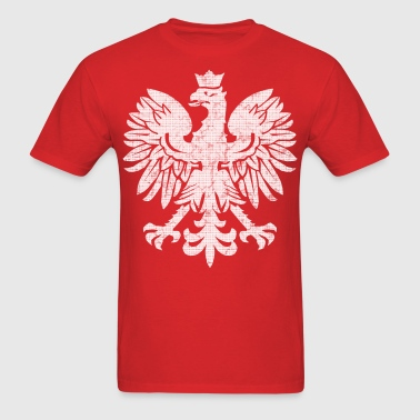 Polish Eagle Halftone - Men's T-Shirt