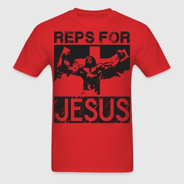 Reps For Jesus (Gym Motivation) - Men's T-Shirt