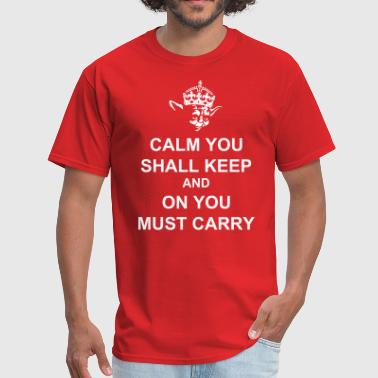 Yoda Keep Calm and Carry On Crown - Men's T-Shirt