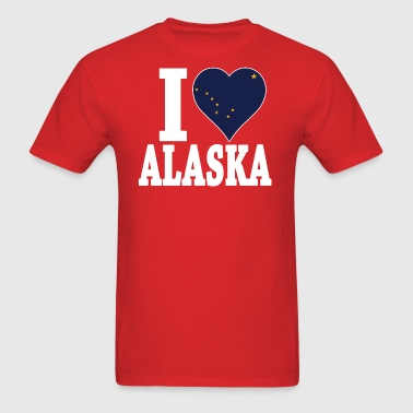 I LOVE ALASKA USA - Men's T-Shirt