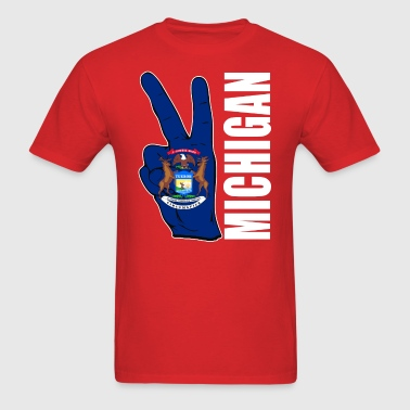 MICHIGAN FLAG - Men's T-Shirt