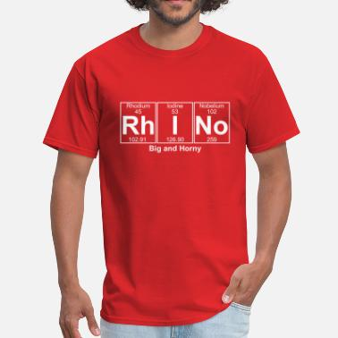 I Love Rhinos Rh-I-No (rhino) - Full - Men's T-Shirt