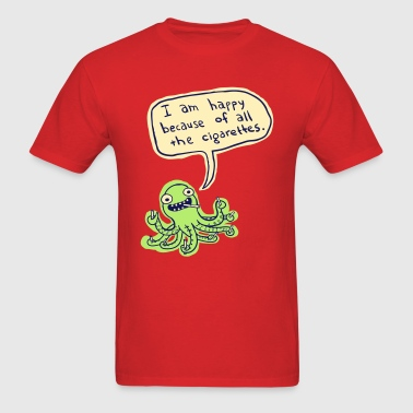 Ozzie the Chainsmoking Octopus - Men's T-Shirt