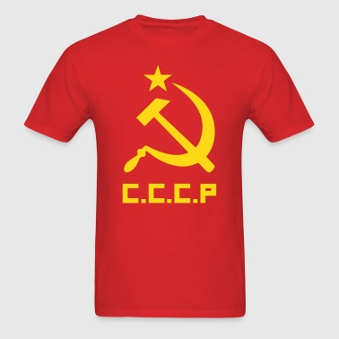 CCCP Communist Flag - Men's T-Shirt