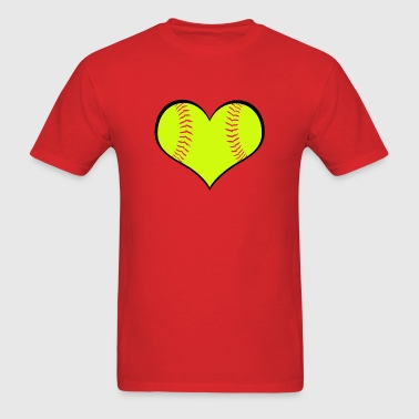 Softball Heart - Men's T-Shirt