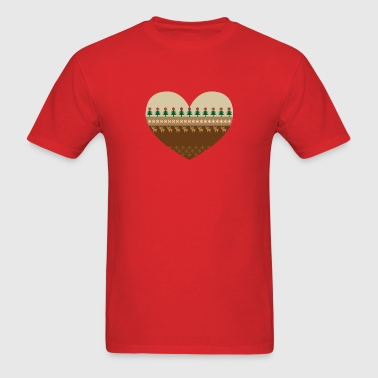 Christmas Heart - Men's T-Shirt