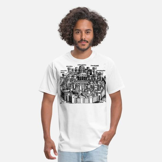 Jerusalem T-Shirts - Jerusalem 1493 - Men's T-Shirt white