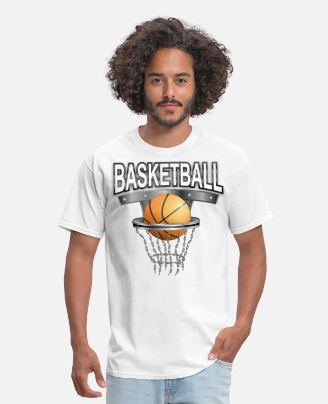 Ball T-Shirts - basketball with basket - Men's T-Shirt white