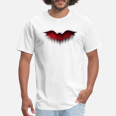Red Bat Halloween bat dotted in red - Men's T-Shirt