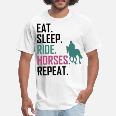 Repeat Sportswear eat sleep ride horses repeat animals riding cowboy - Men's T-Shirt