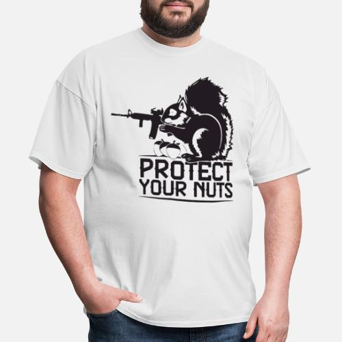 4f280a78 Protect Your Nuts Military Funny patriotic T Shirt Men's T-Shirt ...