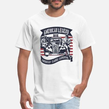 Flags Gangster Classic Gangster - American Classic Car - Men's T-Shirt