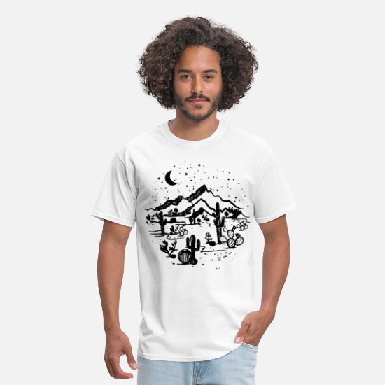 Tech T-Shirts - Desert Starry Night Desert Shirt Cactus Top High Q - Men's T-Shirt white