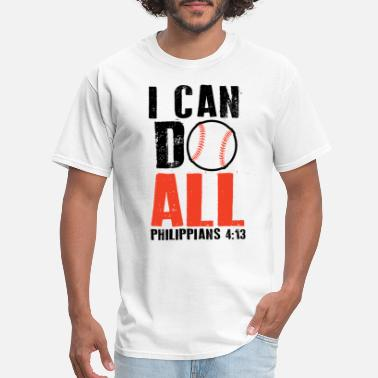 Softball Mom Gift I Can Do All Things Baseball, Christian Sport Shir - Men's T-Shirt