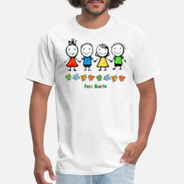 Bikes Pure Hearts Puzzle Autism Awareness T-shirt - Men's T-Shirt