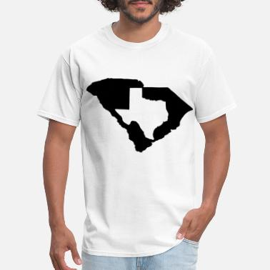Carolina Girl living in South Carolina and you are from Texas - Men's T-Shirt