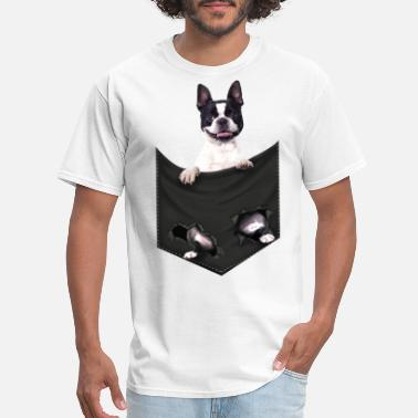 Classic Boston Boston Terrier Mid Classic Pocket T Shirt - Men's T-Shirt