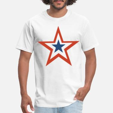 Stars And Stripes 4th july Stars and Stripes Star - Men's T-Shirt