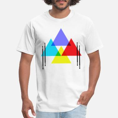 colored triangles - Men's T-Shirt