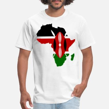 Tee Flag and Map Country Ladies Made In Kenya T Shirt Gift
