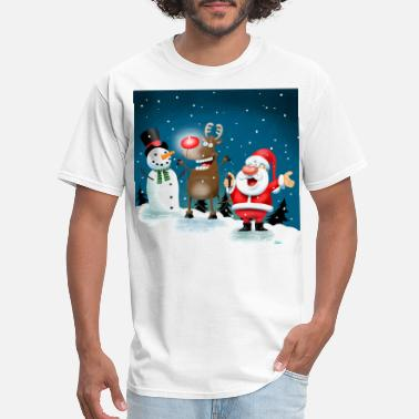 Lighting Red Noses - Men's T-Shirt