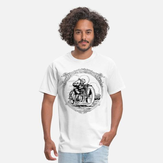 Motorcycle T-Shirts - Retro vintage motorcycle race - Men's T-Shirt white