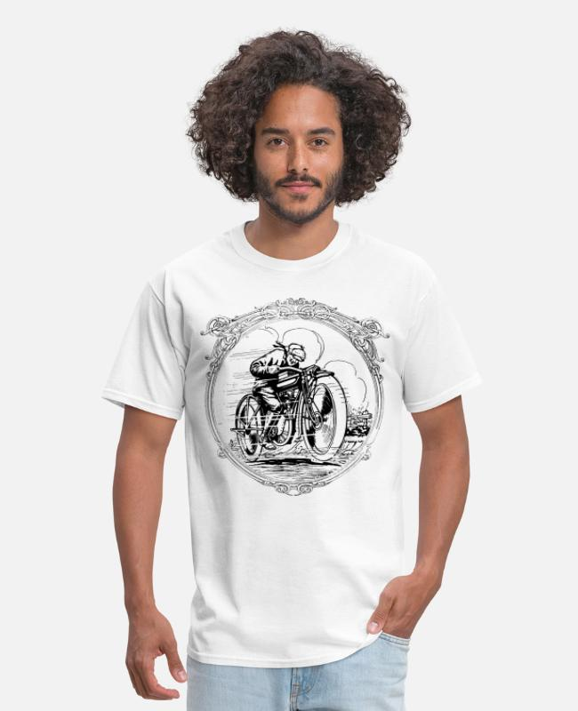White T-Shirts - Retro vintage motorcycle race - Men's T-Shirt white