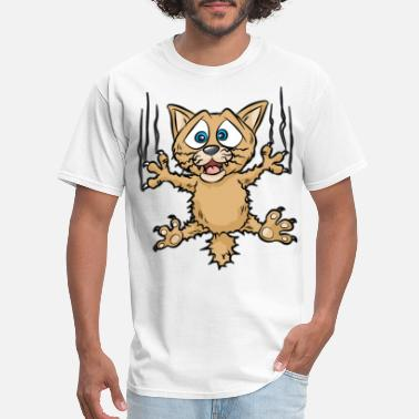 Feral Cats FUNNY CAT Kitty Cats feral Cat Cartoon Comic gift - Men's T-Shirt
