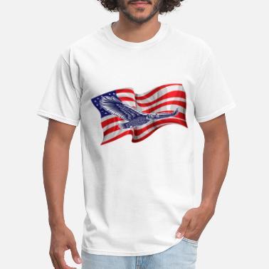God Bless America American Eagle Flag USA United States Juniors T-shirt