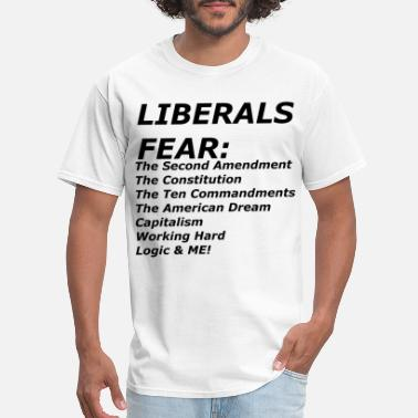 Anti LIBERALS FEAR - Men's T-Shirt