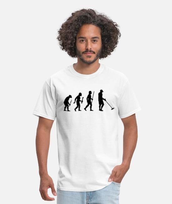 Metaldetector T-Shirts - Evolution Metal Detecting - Men's T-Shirt white