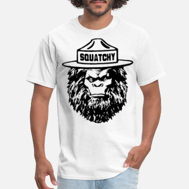5e5060ca Sasquatch Bigfoot Squatchy Sasquatch Funny Bear Hi - Men's T-Shirt