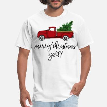 Merry Merry Christmas Y'all Truck - Men's T-Shirt