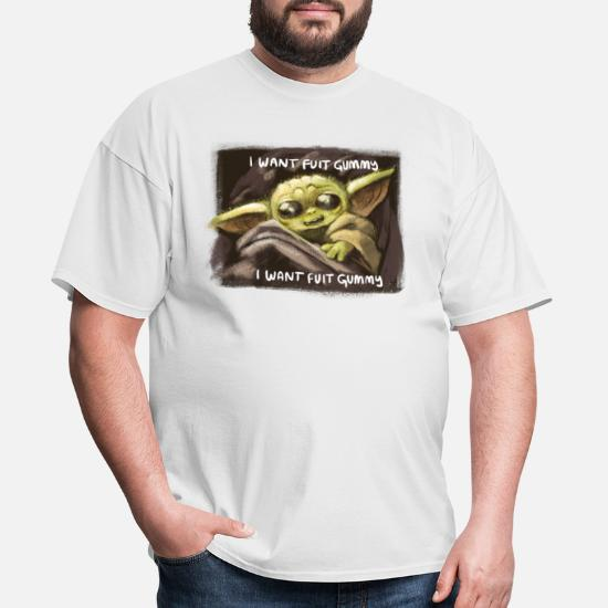 I Want Fuit Gummy Baby Yoda Men S T Shirt Spreadshirt I want fuit gummy uploaded by adam. fruit of the loom