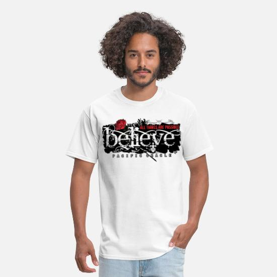 Cool T-Shirts - Believe - Men's T-Shirt white
