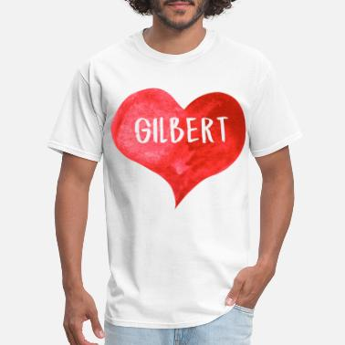 Gay Fireman i love gilbert love heart gift for valentines day - Men's T-Shirt