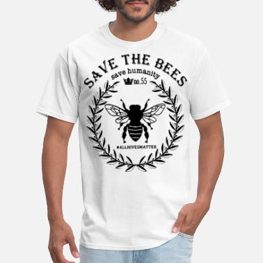 Bees save the bees save humanity no 55 hastag allhivesm - Men's T-Shirt