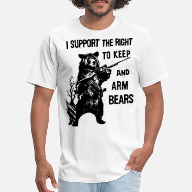 Arm Bears Funny Hunting Saying Military hunt - Men's T-Shirt