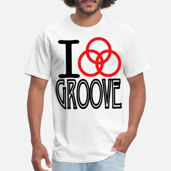 d58d7a52 John Bonham I LOVE GROOVE Baseball Tee Raglan Led Men's T-Shirt ...