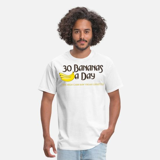 Vegan T-Shirts - 30BananasADay.png - Men's T-Shirt white