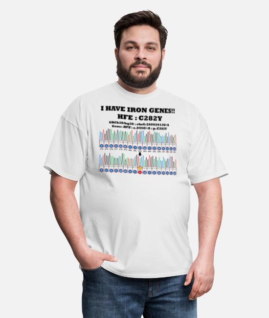 Translation T-Shirts - I have iron genes!! HFE:C282Y - Men's T-Shirt white