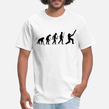 Batsman Evolution of Cricket - Men's T-Shirt