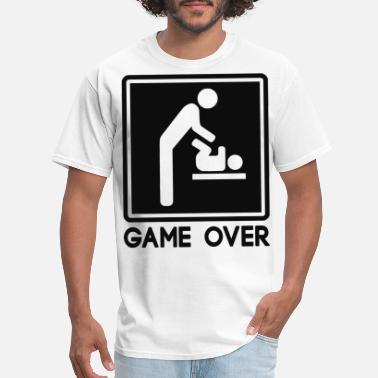 Baby Shower Game Over New Baby for Parent Dad - Men's T-Shirt