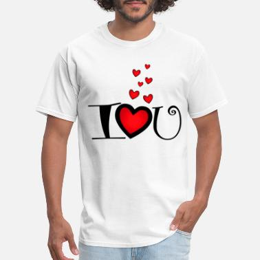 I Love You I love you with heart - Men's T-Shirt