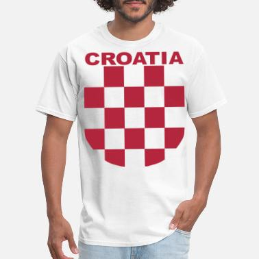 Croatia Croatia Šahovnica grb white shirt red - Men's T-Shirt